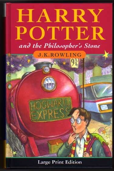 Harry Potter & the Philosopher's Stone Large Print First Edition