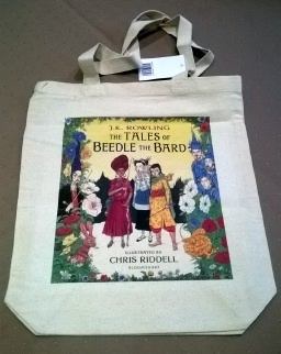 The Tales of Beedle the Bard Promotional Canvas TOTE Bag. Unused