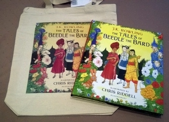 Beedle the Bard, Illustrated UK First. With Rare Tote Bag!